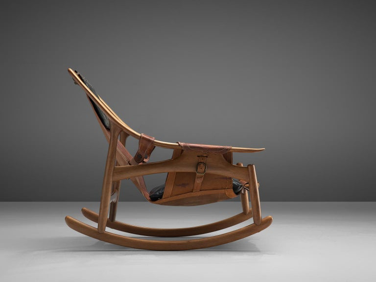 W. Andersag Rocking Chair in Teak and Original Leather 2