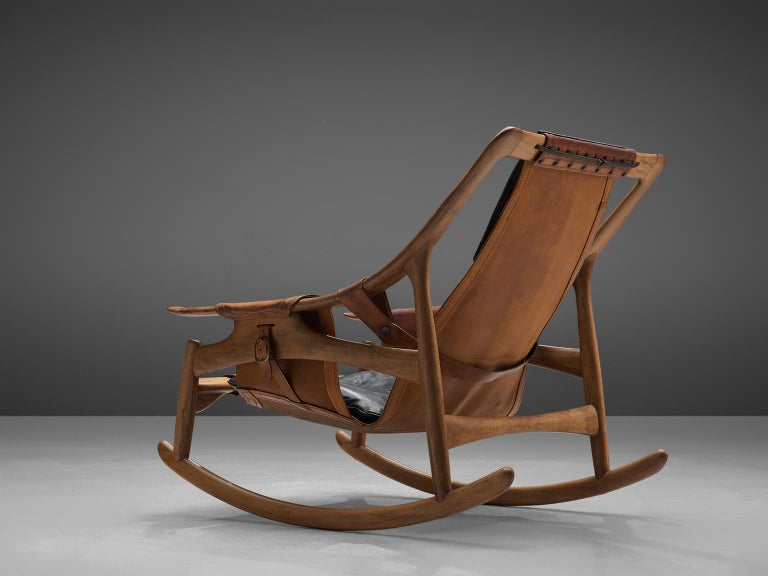 W. Andersag Rocking Chair in Teak and Original Leather 3