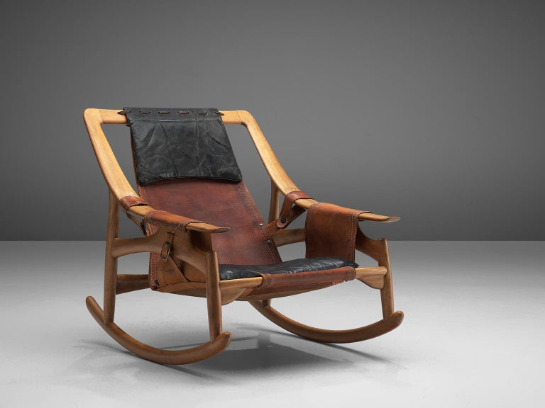 W. Andersag Rocking Chair in Teak and Original Leather 4