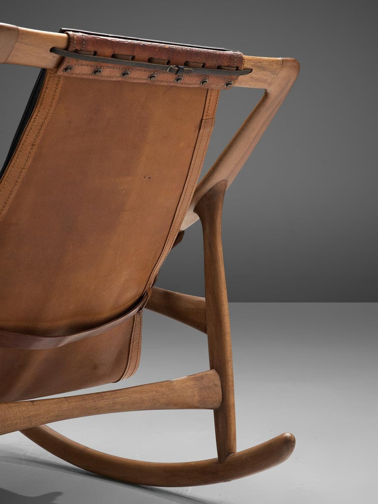 W. Andersag Rocking Chair in Teak and Original Leather 5
