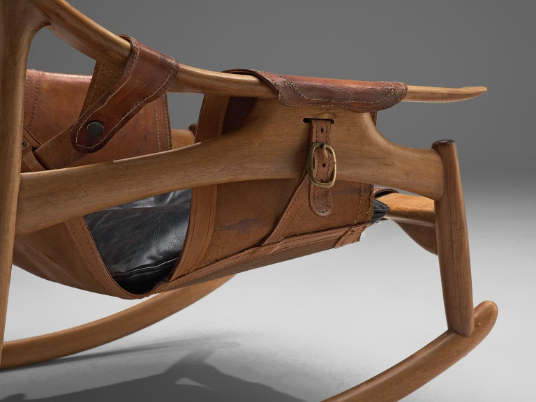 W. Andersag Rocking Chair in Teak and Original Leather 6