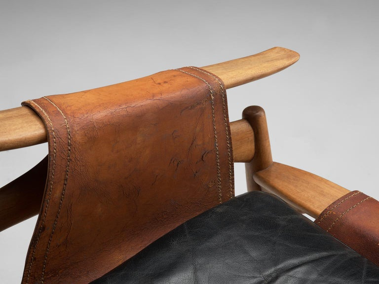 W. Andersag Rocking Chair in Teak and Original Leather 7