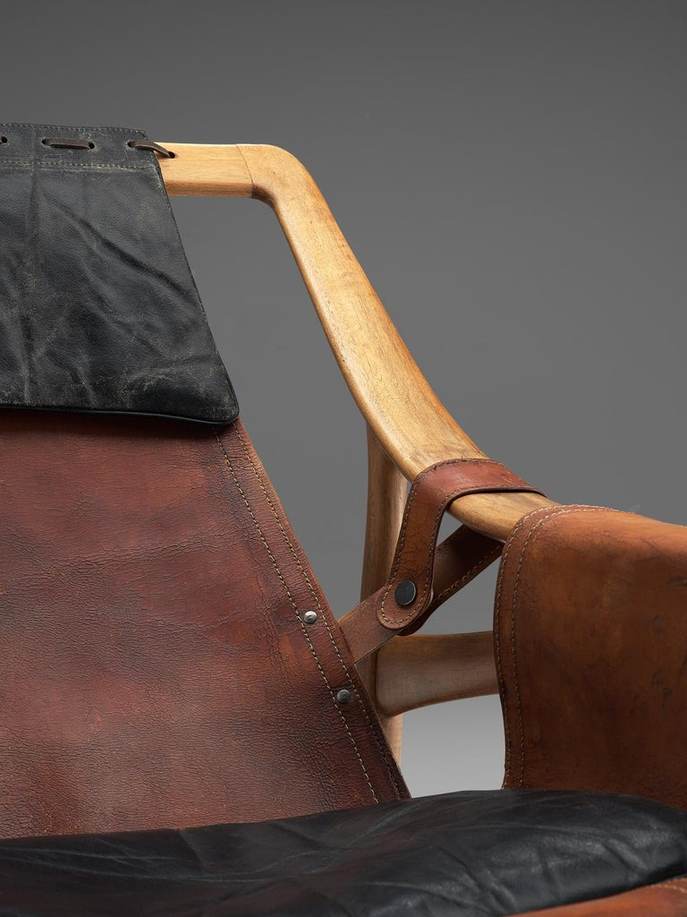 W. Andersag Rocking Chair in Teak and Original Leather 8