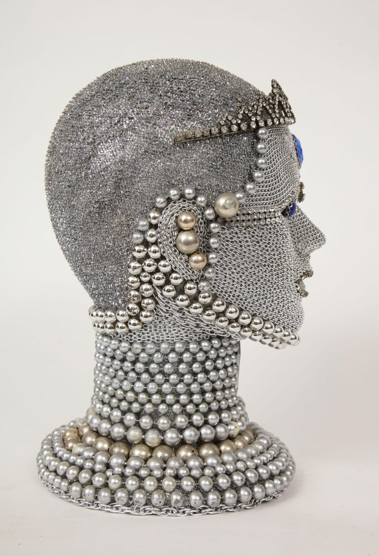 Modern W. Beaupre Chain Mail Bust For Sale