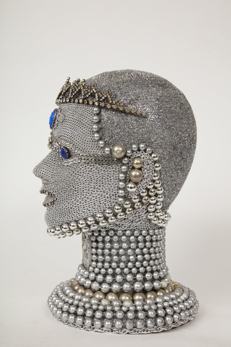 American W. Beaupre Chain Mail Bust For Sale