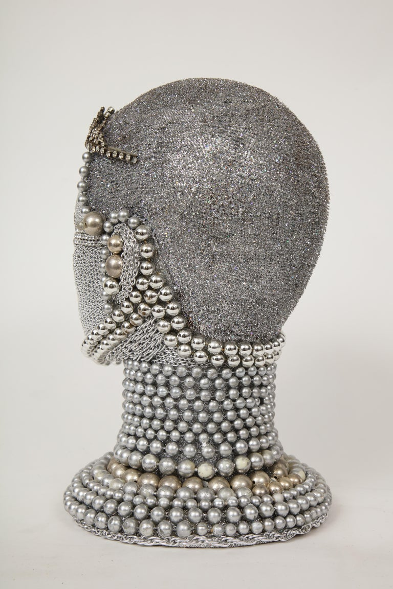 W. Beaupre Chain Mail Bust In Excellent Condition For Sale In New York, NY