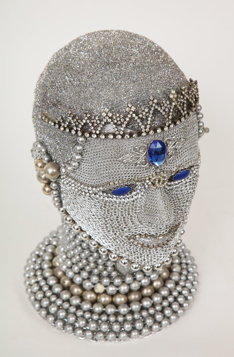 Metal W. Beaupre Chain Mail Bust For Sale
