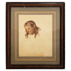W/C on Paper A Study Attributed to William Holman Hunt