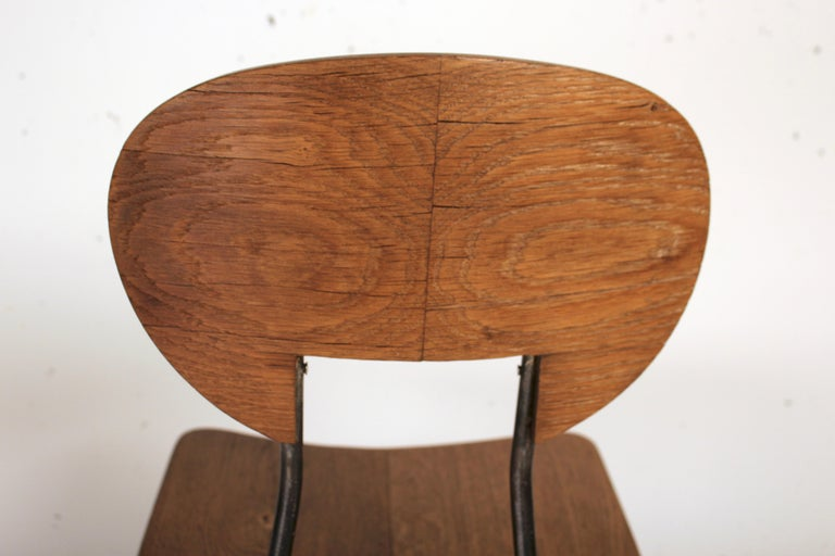 French W Chair by Cesar Janello for Raoul Guys Aa Éditions, 1947 For Sale