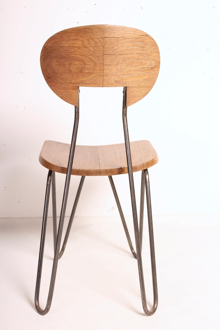 W Chair by Cesar Janello for Raoul Guys Aa Éditions, 1947 In Good Condition For Sale In Santa Gertrudis, Baleares