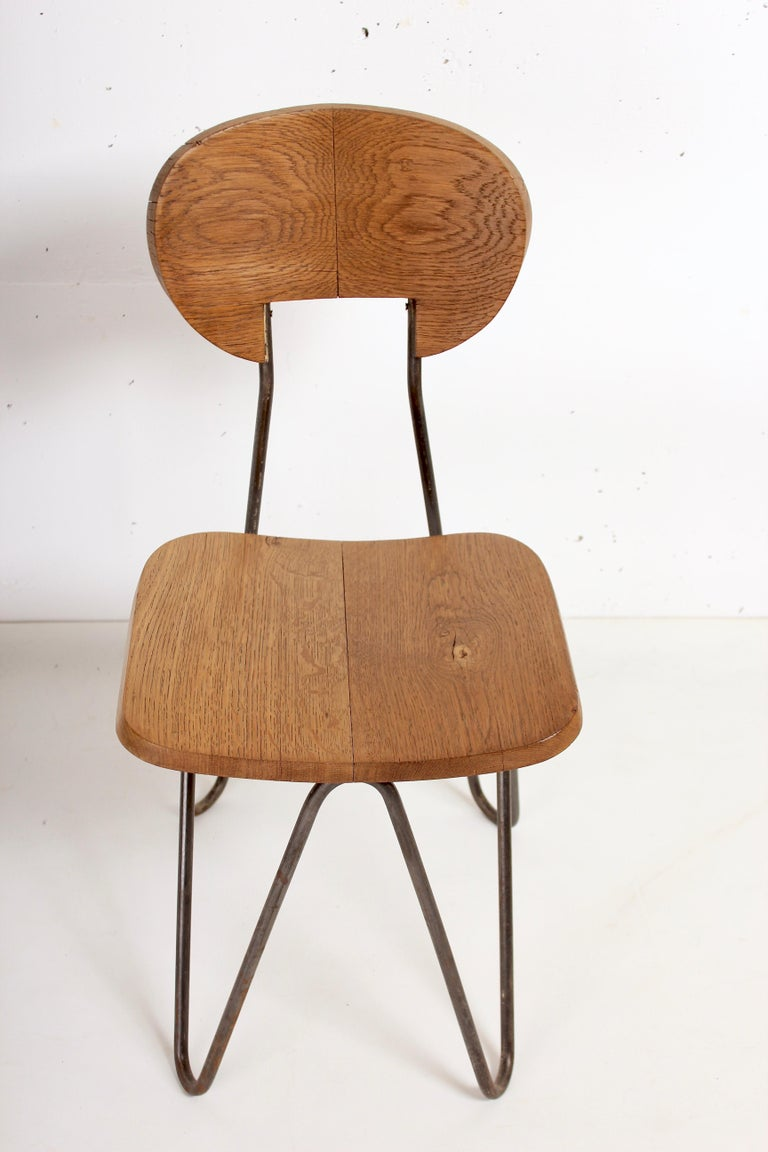 Mid-20th Century W Chair by Cesar Janello for Raoul Guys Aa Éditions, 1947 For Sale