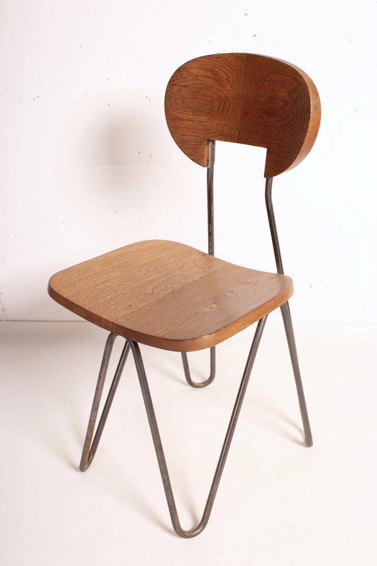 W Chair by Cesar Janello for Raoul Guys Aa Éditions, 1947 For Sale 1