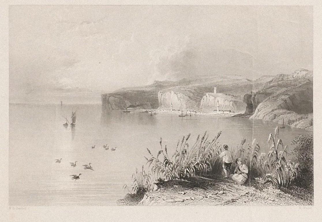 Nicopolis - Original Lithograph by W.H. Bartlett - Early 19th Century