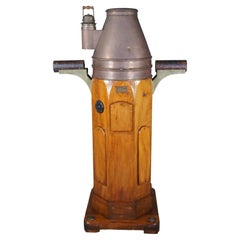 W. Hartmann Antique Oak & Copper Ships Binnacle Nautical Maritime Compass