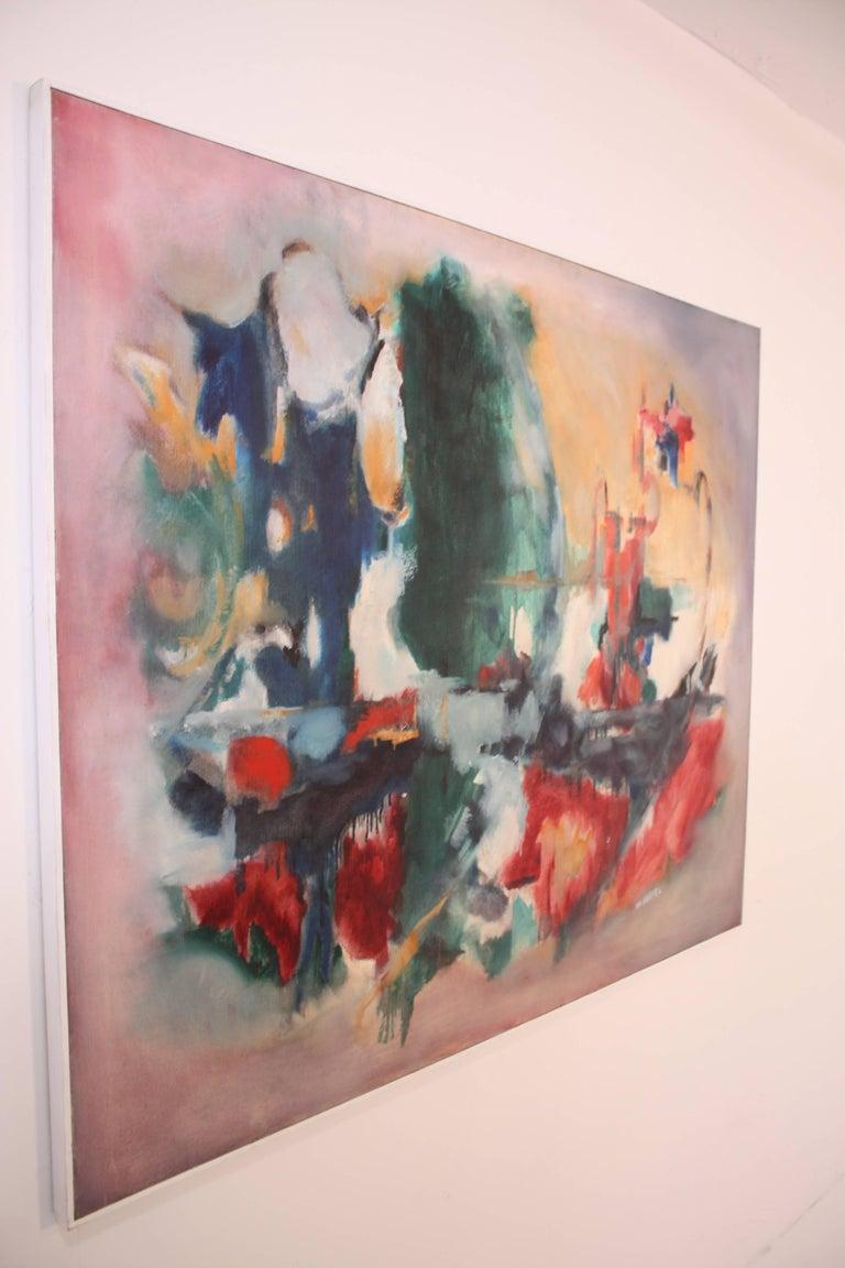 Mid-Century Modern W. Heffel, Oil on Canvas, 1963 For Sale