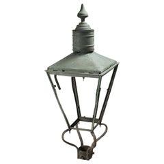 W. Parkinson & Co Green Victorian Gas Light, 20th Century