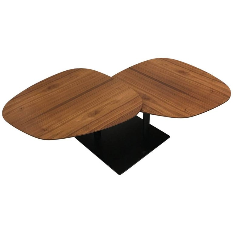 Magnificent Waage Coffee Table With Rotating Walnut Wood Tops And Black Base By Draenert Cjindustries Chair Design For Home Cjindustriesco