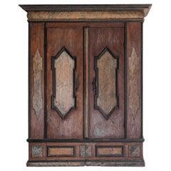 Wabi Sabi: 18th Century Piemonte Cabinet in Original Paint
