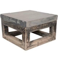 Wabi Sabi Appeal Blue Stone Top End Table