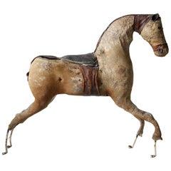 Wabi Sabi Perfect Imperfect 19th Century French Horse Real Horseskin