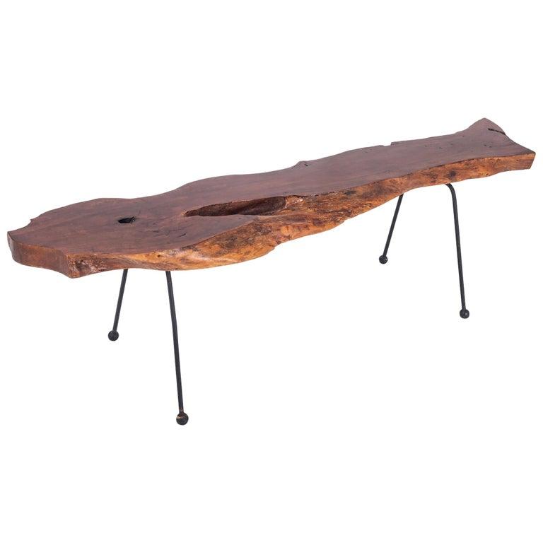 Wabi Sabi Style Coffee Table In Organic Walnut For Sale At