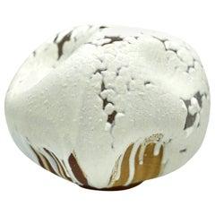 Wabi Sabi White Ceramic Textured Vase, Interior Sculpture, Handmade Vessel
