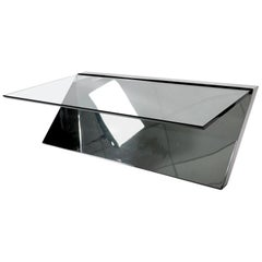 Wade Beam for Brueton Chrome and Glass Coffee Table
