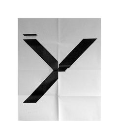 X Poster (Untitled, 2007, Epson UltraChrome inkjet on linen, 84 x 69 in, WG1211)