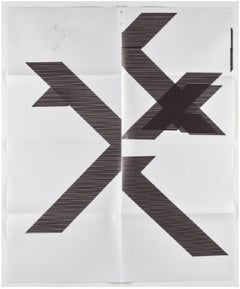 X Poster (Untitled, 2007, Epson UltraChrome inkjet on linen, 84 x 69 inches