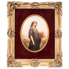 Wagner Continental Framed Porcelain Plaque