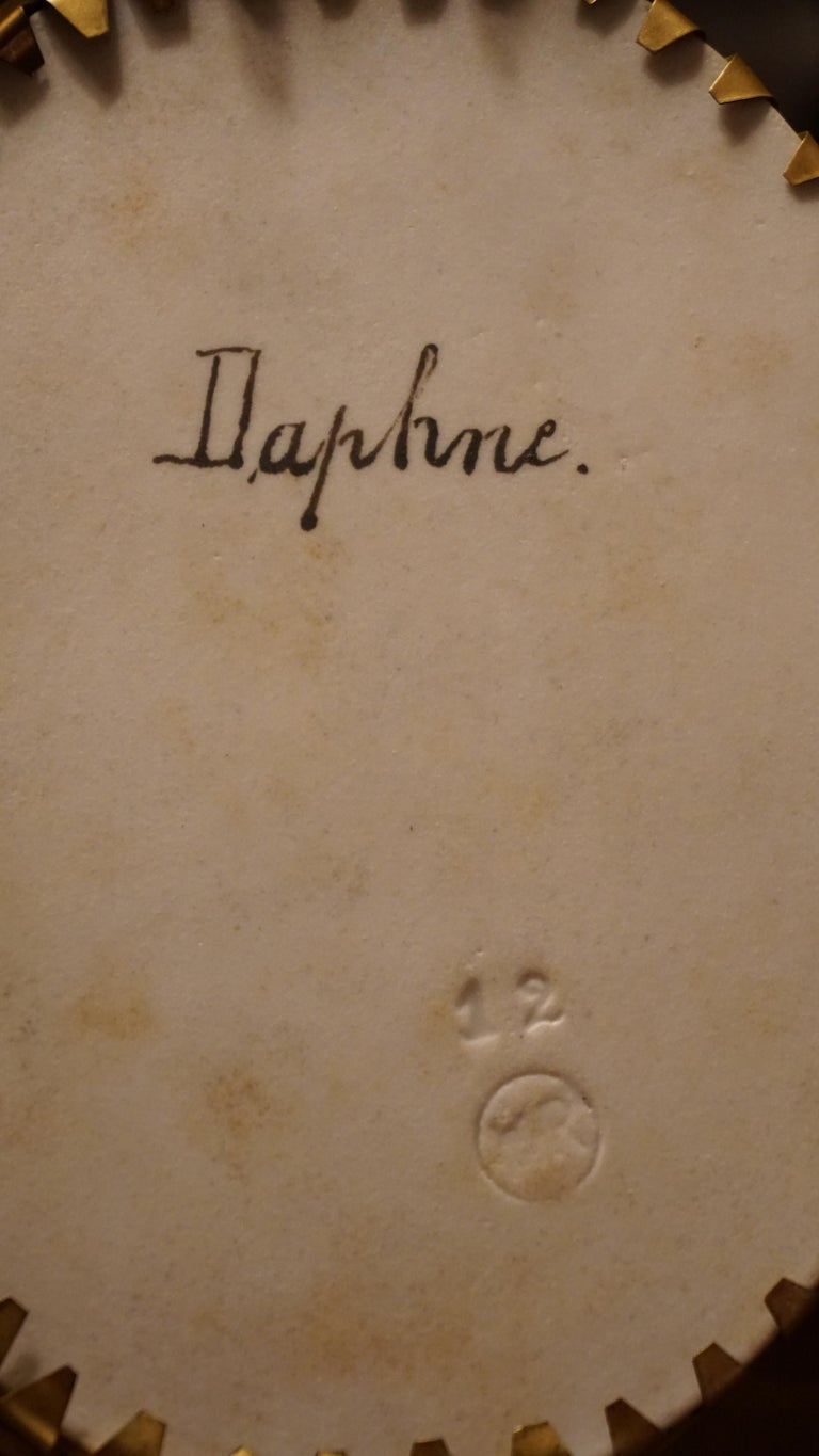 Hand-Painted Wagner Porcelain Plaque Painting of Daphne by C.M. Hutschenreuther For Sale