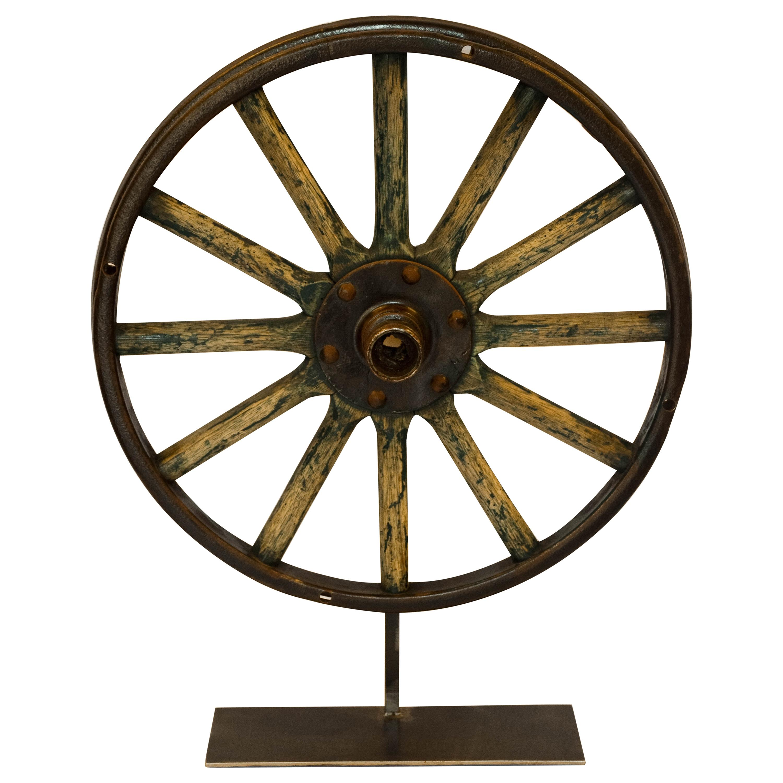 Wagon Wheel on Stand