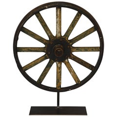 Wagon Wheel on Stand