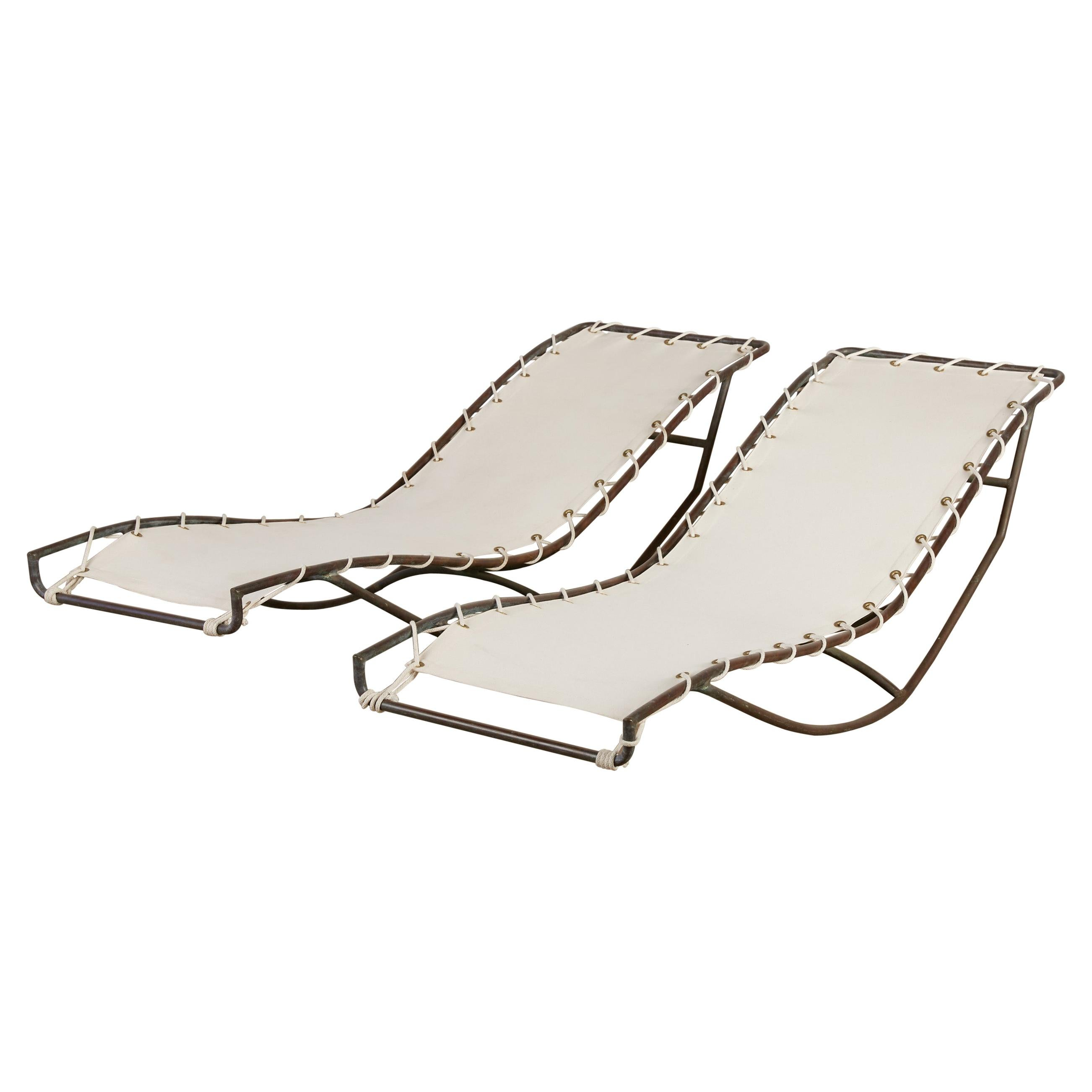 Waikiki Rocking Chaise Lounges by Walter Lamb
