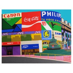 'Waiting For a Sign' Cityscape London Painting by Alan Fears Piccadilly