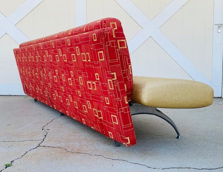 Aluminum Waiting Sofa by Rodolfo Dordoni for Moroso For Sale