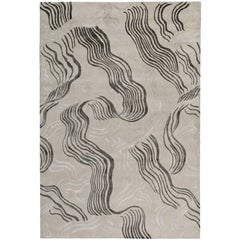 Wake Hand-Knotted 6x4 Rug in Wool and Silk by Kelly Wearstler
