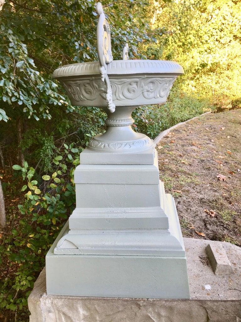 Walbridge & Co. of Buffalo Cast Iron Fountain Urn For Sale 6