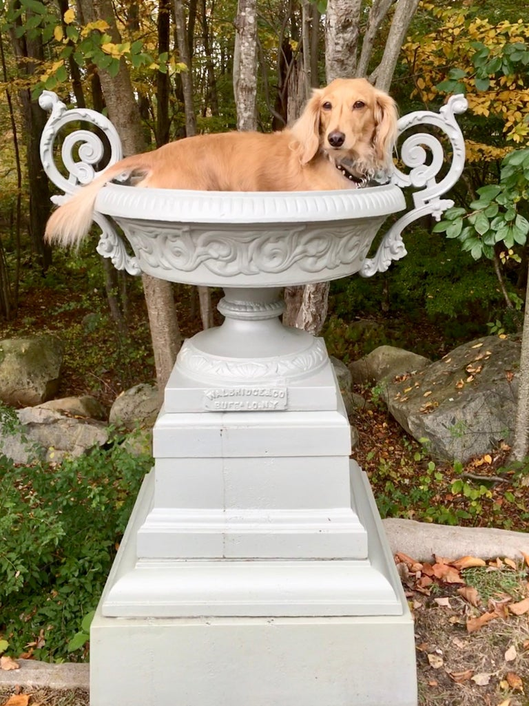 Walbridge & Co. of Buffalo Cast Iron Fountain Urn For Sale 9