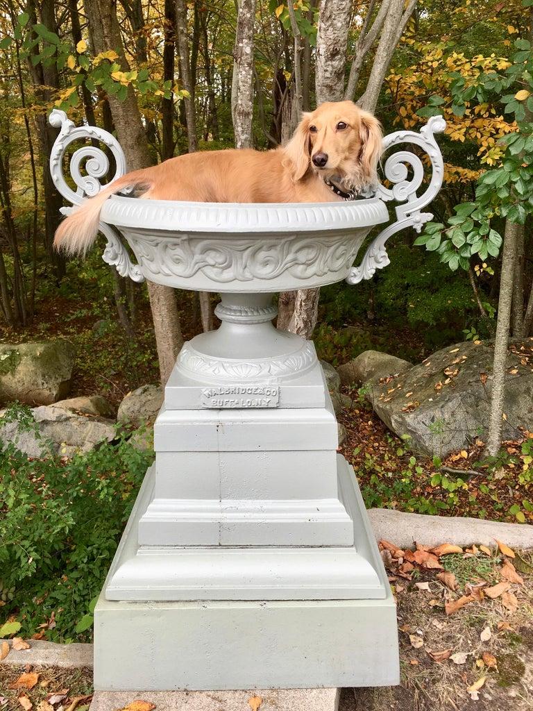Walbridge & Co. of Buffalo Cast Iron Fountain Urn For Sale 10