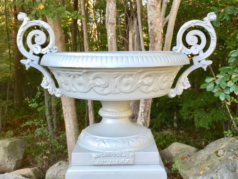 Walbridge & Co. of Buffalo Cast Iron Fountain Urn For Sale 3