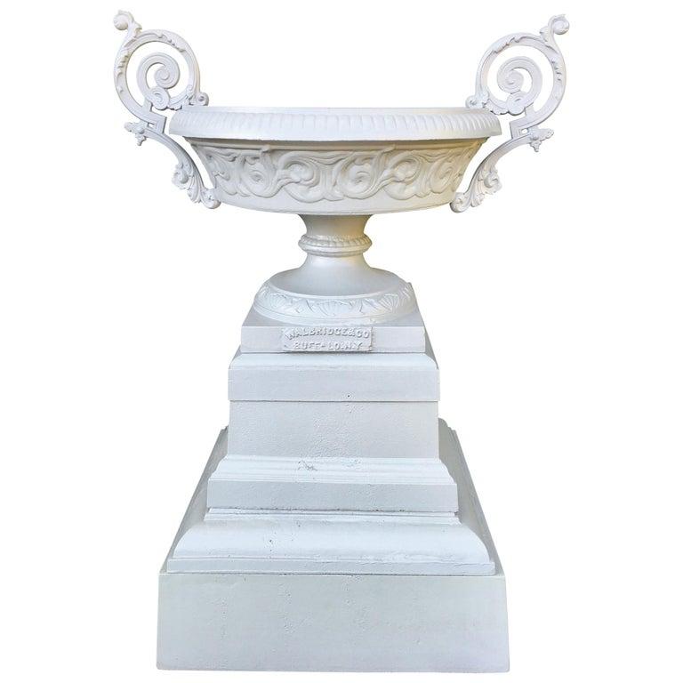 Walbridge & Co. of Buffalo Cast Iron Fountain Urn For Sale
