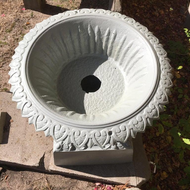 Walbridge of Buffalo Cast Iron Reservoir Vase For Sale 4