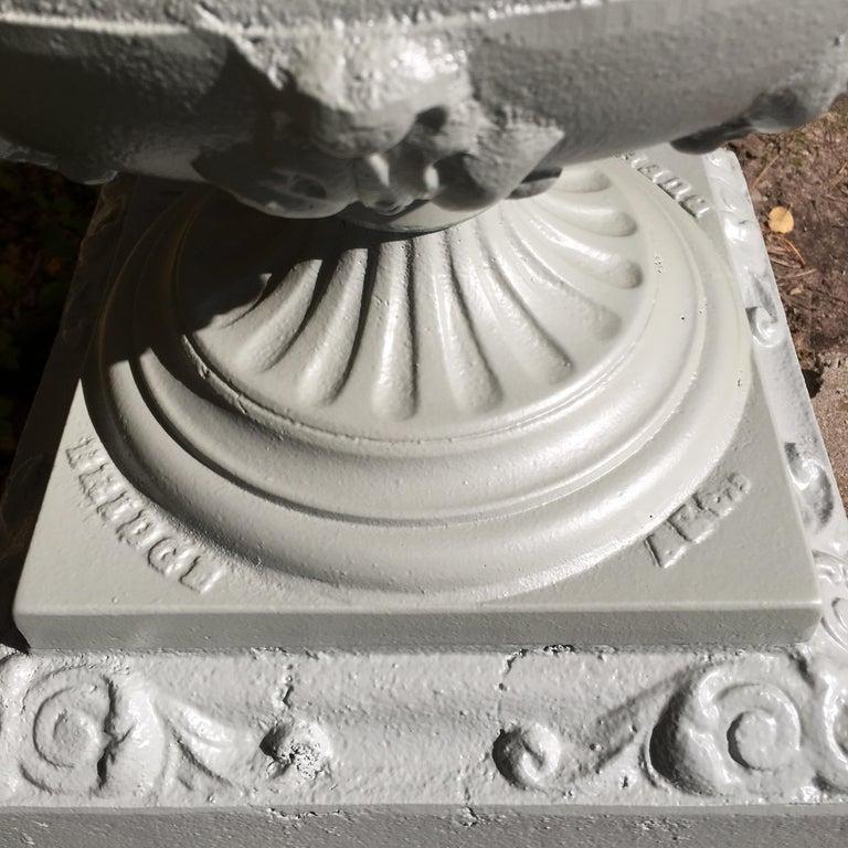 Walbridge of Buffalo Cast Iron Reservoir Vase For Sale 6