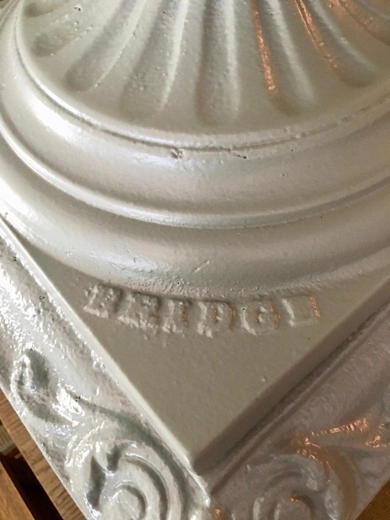 American Walbridge of Buffalo Cast Iron Reservoir Vase For Sale