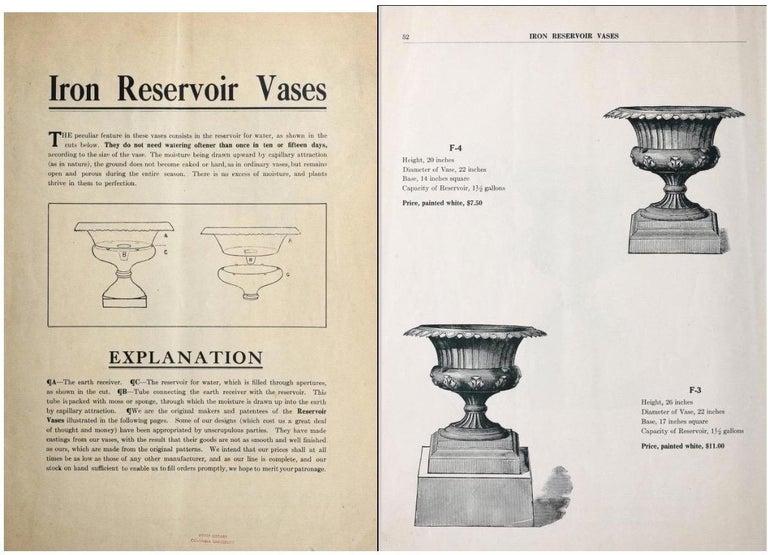 Early 20th Century Walbridge of Buffalo Cast Iron Reservoir Vase For Sale