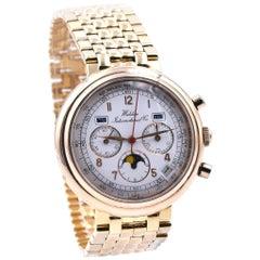 Waldan International 18 Karat Yellow Gold Astronic Chronograph