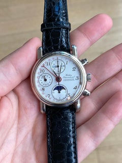 Waldan International Chronometer Chronographe Platinum Watch
