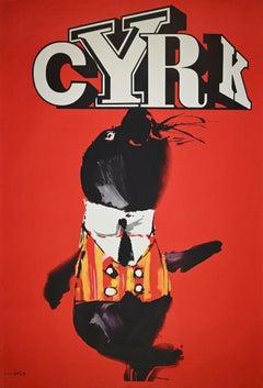 Cyrk - Vintage Poster by Waldemar Swierzy - 1980s