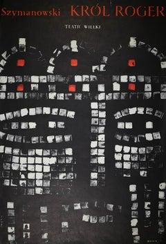 Wielki Theatre - Vintage Poster by Waldemar Swierzy - 1968